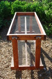 Salad Bench—End View