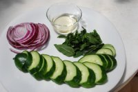 Vietnamese Cucumber and Mint Salad Ingredients