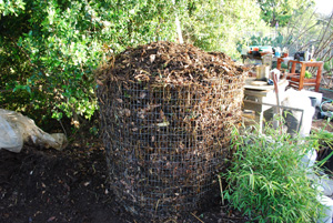 Compost Pile After First Turning