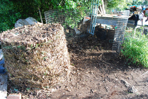 Compost Pile Before First Turning