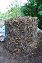 Compost Pile Before Third Turning