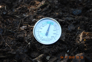 Compost Pile Temperature After Fourth Turning