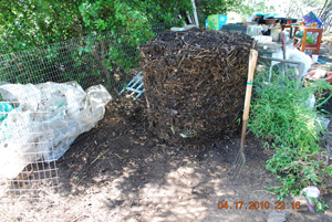 Compost Pile Before Fourth Turning