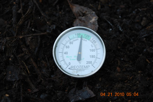 Compost Pile Temperature After Sixth Turning