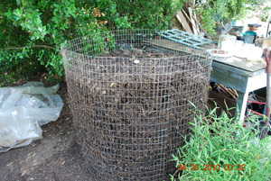 Compost Pile Before Eighth Turning