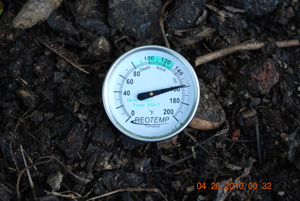 Compost Pile Temperature Before Eighth Turning