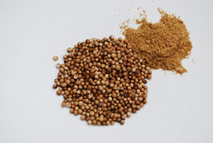 Coriander (Cilantro) Seeds and Ground Coriander