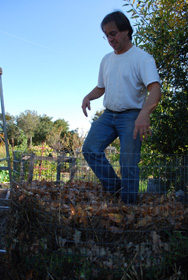 Compressing Compost Ingredients in a Hot Compost Pile 2