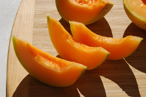 Melon Varieties 'Charentais' Slices
