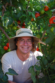 Photo of Steve in the Tomato Temple