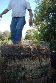 Compressing Compost Ingredients in a Hot Compost Pile 3