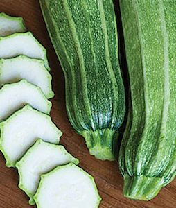 'Gadzukes' produce ribbed zucchini that have star-shaped slices.